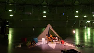 【ソロキャン】1万人収容のドームで宿泊してみた!