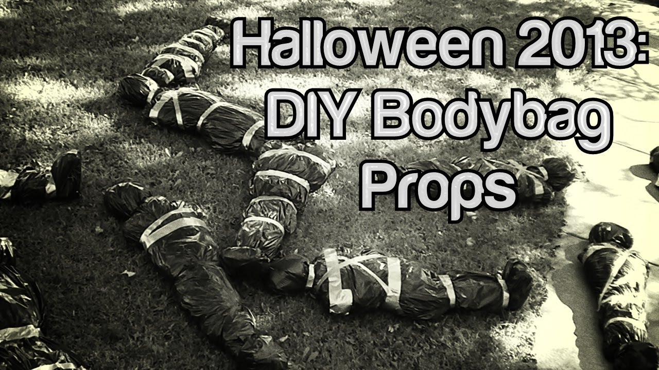 halloween 2013 diy body bag props youtube - Halloween Props Homemade