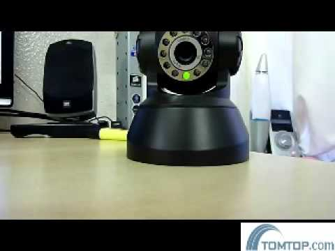 TOMTOP.COM Wireless/Wired WiFi IR LED Nightvision Security IP Camera