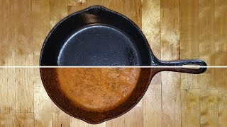 Cast Iron Restoration, Seasoning, Cleaning & Cooking. Cast I...