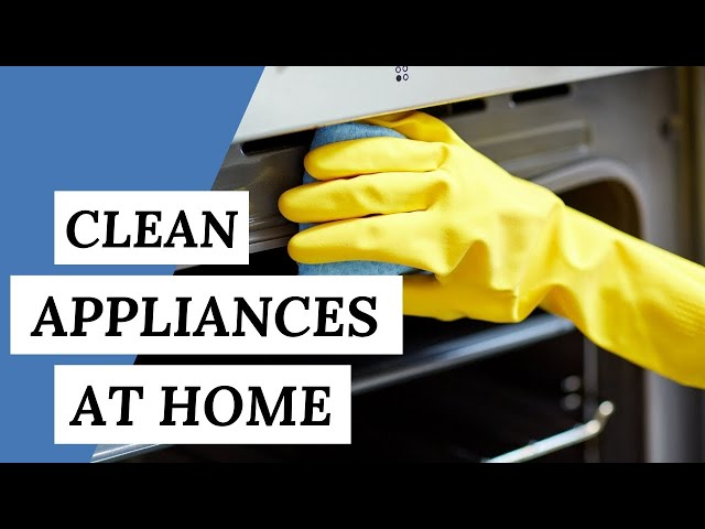 How To Clean Small KITCHEN APPLIANCES (4 Cleaning Tips)