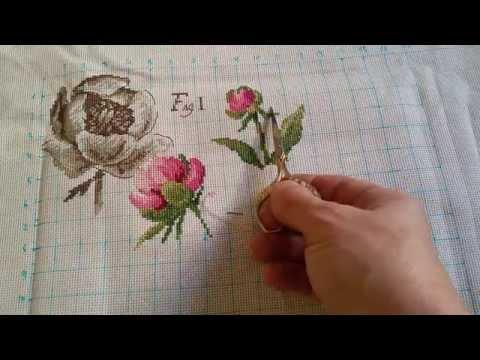 СП Прикладная вышивка. Вышиваем подушки. Пион из серии Ботаника. Отчёт № 2