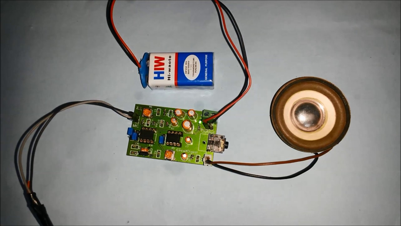 Voice Modulator Circuit With Pcb Design Youtube Mp3 Player Booster Circuits Ave