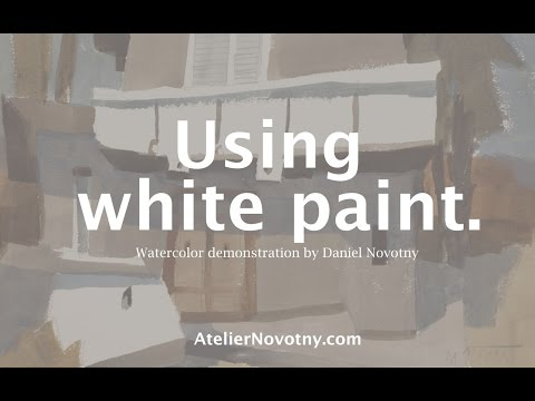 Using white paint. Watercolor demonstration by Daniel Novotny