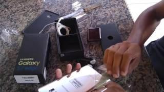 Unboxing Samsung Galaxy S7 edge (Prata)
