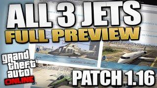 GTA 5 Patch 1.16 - Full Jet Preview (Bestra, Milljet, Swift) (GTA 5 Flight School Update)