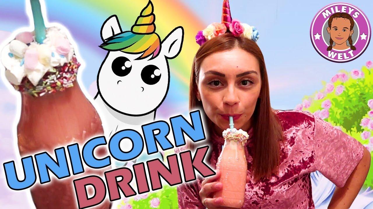 unicorn drink diy wie mache ich einen coolen einhorn shake mileys welt youtube. Black Bedroom Furniture Sets. Home Design Ideas
