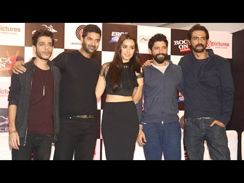 UNCUT - Rock On 2 Music Launch   Farhan Akhtar, Arjun Rampal, Shraddha Kapoor & Purab Kholi