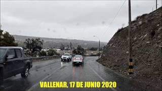VALLENAR - DIA DE LLUVIA, 17 DE JUNIO 2020.