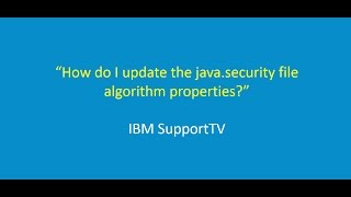 How do I update the 'java.security' file algorithm properties?