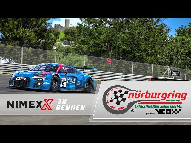 LIVE: 🇩🇪 Digitale Nürburgring Langstrecken-Serie | NIMEX 3h-Rennen