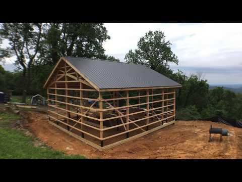Pole Barn House Construction Day 4