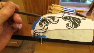 Townsend Card Table   Carving The Knee Step 18