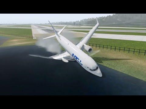 Russian Plane Crash, UTair B737 Crashes After Landing [XP11]
