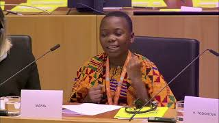 14 year Old Maria from Uganda asks European Union to support her to end violence against children