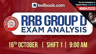 RRB Group D Exam Analysis | 16th October Shift 1 | RRB Group D 2018 Exam Review + Questions Asked