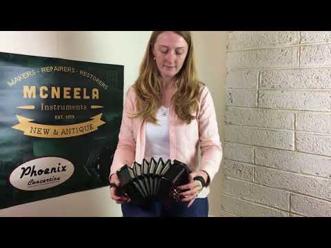 Caitlín Nic Gabhann On The  No 168085 Lachenal Concertina With Mahogany Ends