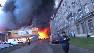 Пожар в Санкт-Петербурге. Горит