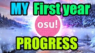 osu! My First Year Progress! How i progressed in a year, let me know how you progressed in your 1st