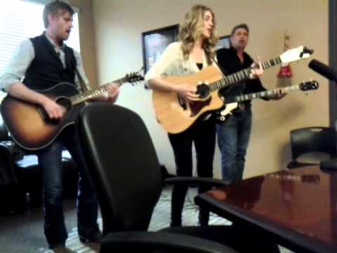 "The Henningsens ""Down"" at KWNR offices in Las Vegas"
