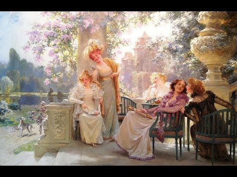 Alois Hans Schram (1864-1919) Austrian painter ✽ Brahms / Waltz No.15 in A-Flat Major