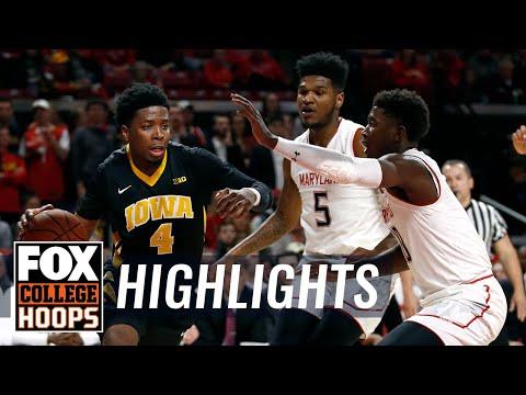 Maryland vs Iowa   Highlights   FOX COLLEGE HOOPS