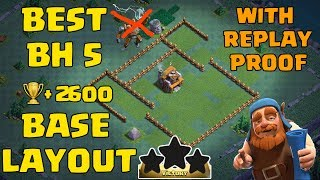 Clash Of Clans Best Builder Hall 5 Base Design (BH5) With Replays +2600 trophies