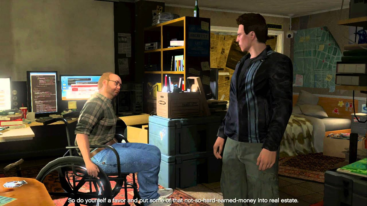 Grand Theft Auto 5 Online Lester talks to Claude from GTA 3 (fanfiction)