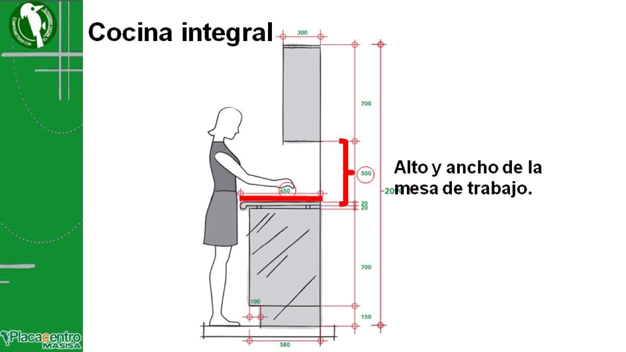 7 dise o de cocinas integrales medidas de los muebles 3