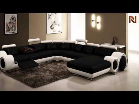 Modern Black And White Frame Sectional Sofa Vgev4084 2 From Vig