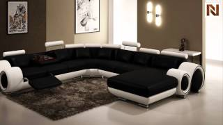 Modern Black And White Frame Sectional Sofa Vgev4084-2 From Vig Furniture