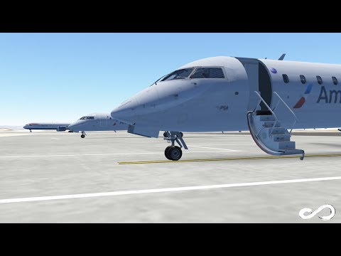 American Eagle CRJ 700 takeoff from Los Angeles to San Clemente Island |  Infinite Flight Global