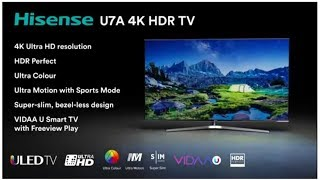 Hisense H55U7AUK 55 Inch 4K Ultra HD ULED Smart TV with HDR and Freeview Play   SilverBlack 2018 Mod