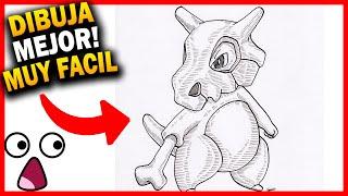 como dibujar a cubone paso a paso pokemon a lapi - dibujos a lapiz faciles de hacer de fortnite