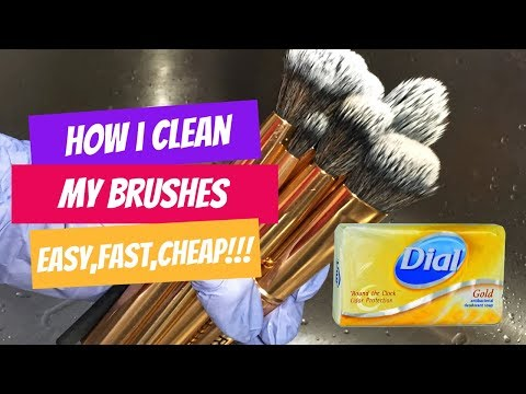 How I Clean My Makeup Brushes (w/ ONE ITEM From The DOLLAR STORE!)