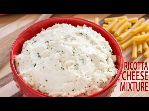 How To Make Ricotta Cheese Mixture For Lasagna | Ricotta Cheese Filling | Watch Learn Eat