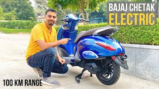 2019 Bajaj Chetak Electric Unveiled | 95 km Range | Lithium-ion Battery