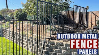 Outdoor Metal Fence Panel Build   JIMBO'S GARAGE