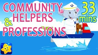 Community Helper Songs   Rhymes on Professions   Learn about Jobs   30 Minutes Compilation