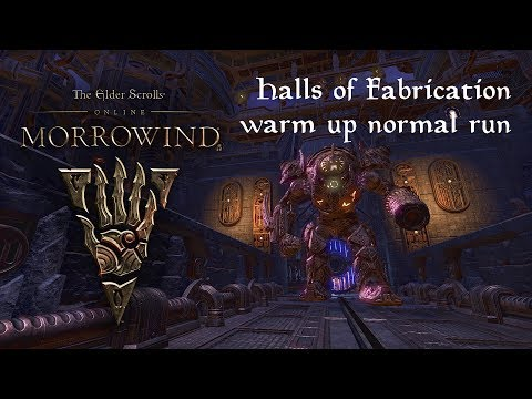 [Morrowind] Getting to know Normal Halls of Fabrication - Storyline + All bosses - Tank POV