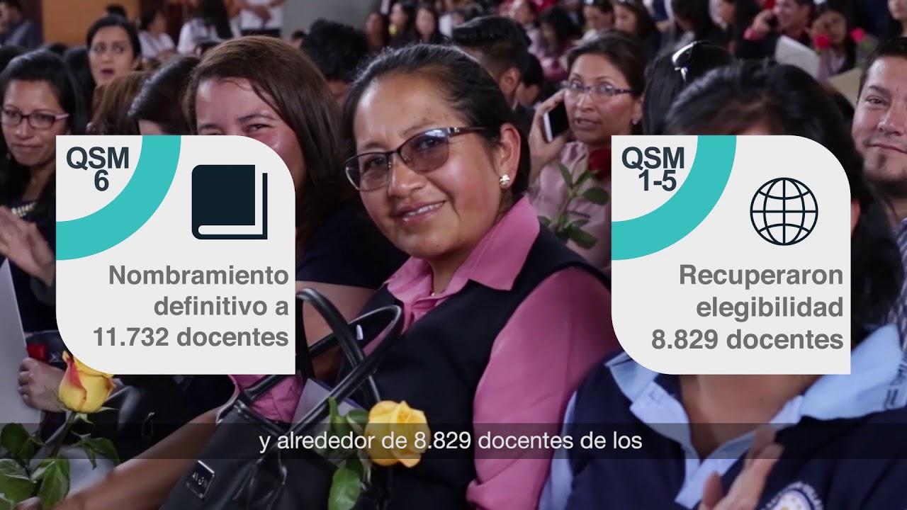1er año Gestión Ministra Monserrat Creamer - Calidad Educativa. Entrega nombramientos docentes