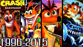 Crash Bandicoot ALL INTROS 1996-2015 (PS1, PS2, Xbox, GC)