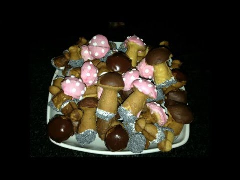 как приготовить печенье грибочки в форме для выпечки