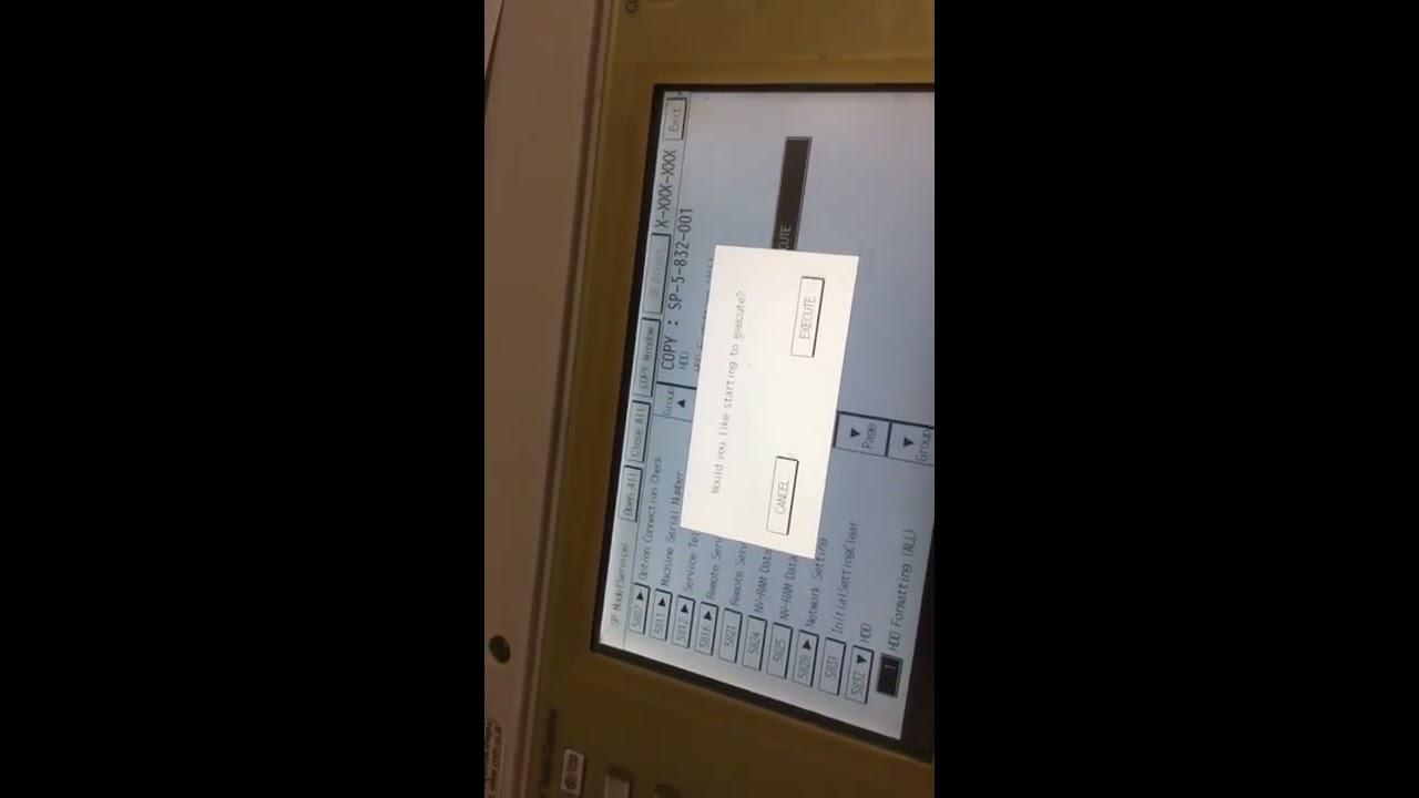 Sửa lỗi SC 863 06 máy Ricoh- Fix defect SC 863 06 Ricoh
