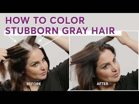 How to Color Stubborn Gray Hair - YouTube