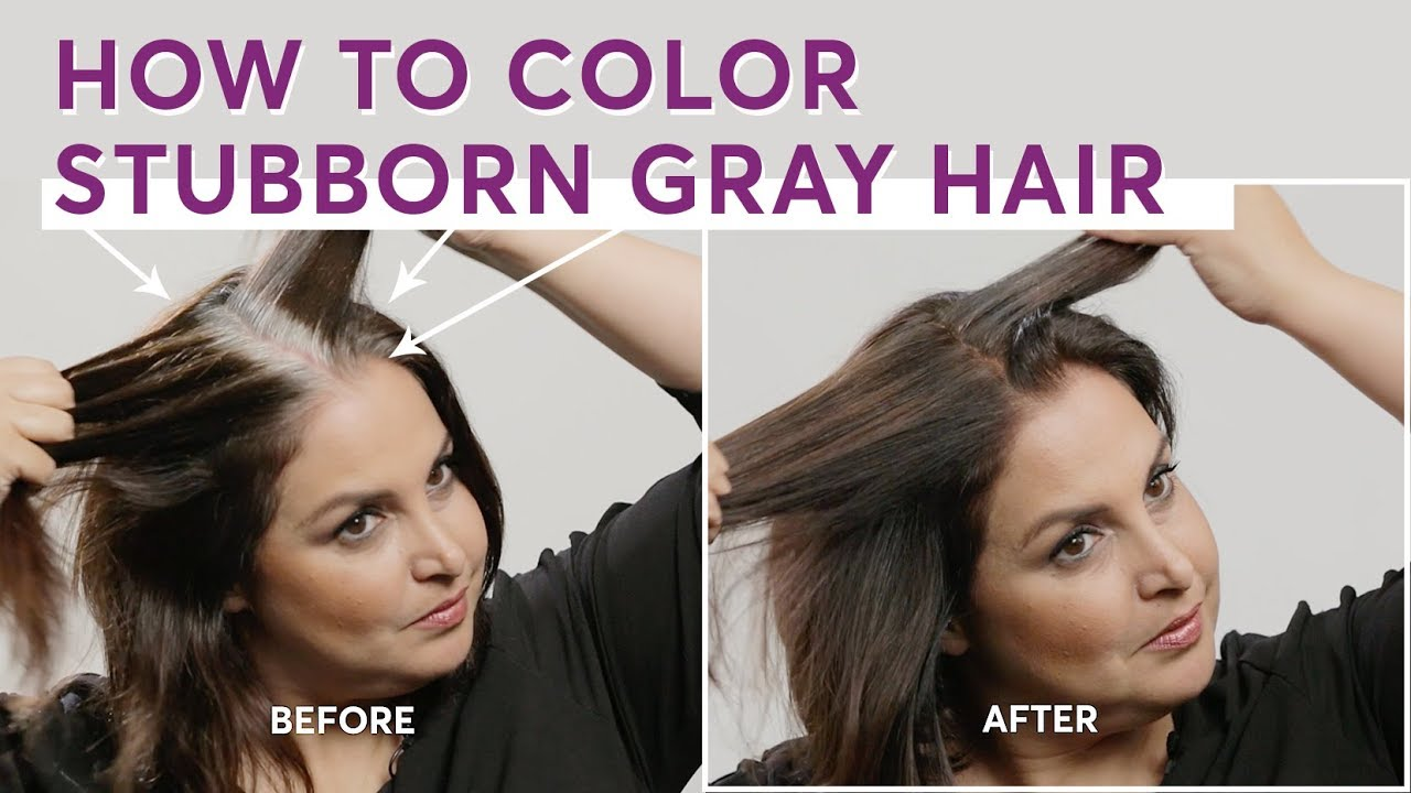 How To Color Stubborn Gray Hair Youtube