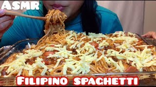 ASMR FILIPINO STYLE SPAGHETTI (Satisfying Eating Sounds) No Talking