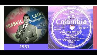 Frankie Laine - One For My Baby (and one more for the road) 'Vinyl'