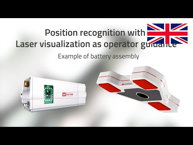 Worker guidance through laser visualization