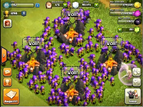 Clash of Clans: Level 6 Archers Attack !!!